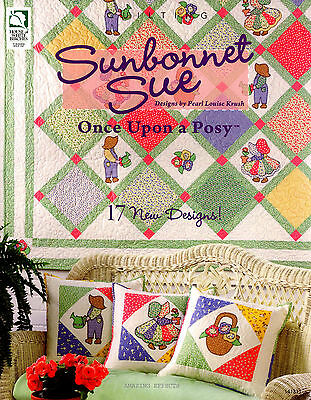 Sunbonnet Sue Once Upon a Posy BOOK overall Bill Quilting Applique quilt pillows