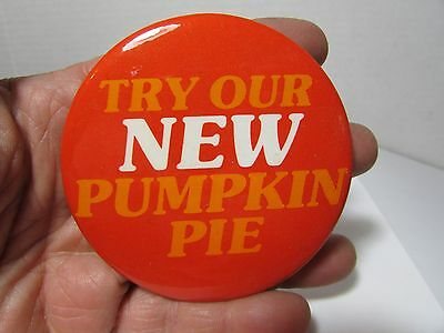 Vintage McDonald's Employee Advertising Pin Try Our New Pumpkin Pie