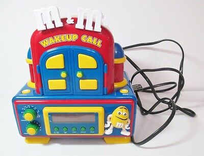 M&m Radio Alarm Clock Wake Up Call Red M&m Comes Out And Talks