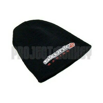 Skunk2 Racing Embroidered Logo Beanie Hat Head Skull Cap Black Official Product