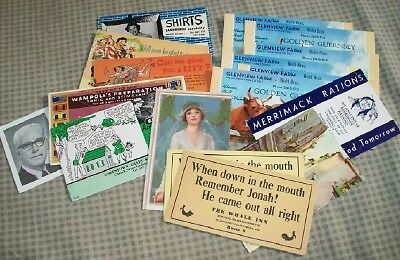 GOOD LOT OF 17 VINTAGE ADVERTISING BLOTTERS 1940s/1960s FOR A GIVE AWAY PRICE