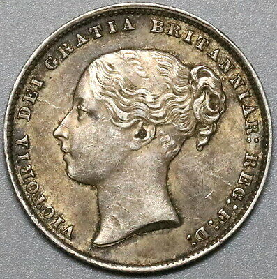 1866 Silver Shilling Victoria GREAT BRITAIN Coin Die 60 (17011001S)