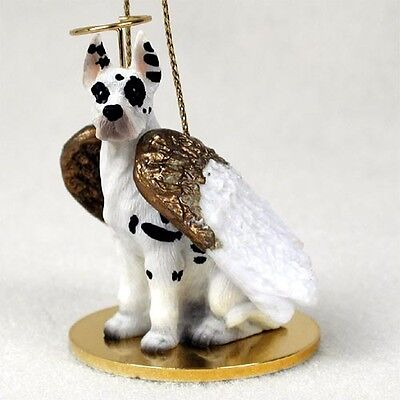 GREAT DANE Harlequin Dog ANGEL Tiny One Ornament Figurine Statue