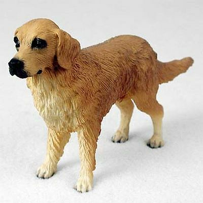 Golden Retriever Dog Hand Painted Collectable Figurine Statue