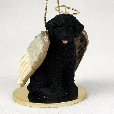 Portuguese Water Dog ANGEL Tiny One Ornament Figurine Statue