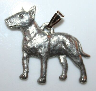 BULL TERRIER Dog Harris Fine Pewter Pendant USA Made