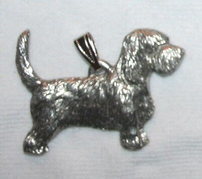PBGV Petit Basset Griffon Vendéen Dog Harris Fine Pewter Pendant USA Made