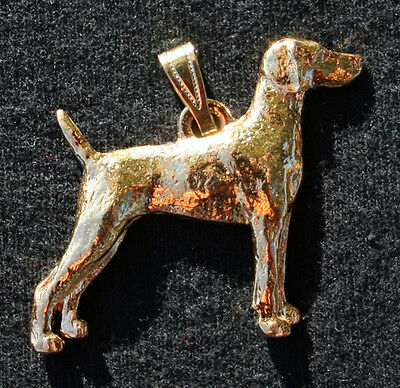 WEIMARANER Dog 24K Gold Plated Pewter Pendant Jewelry USA Made