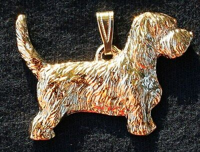 PBGV Petit Basset Griffon Vendeen Dog 24K Gold Plated Pewter Pendant Jewelry
