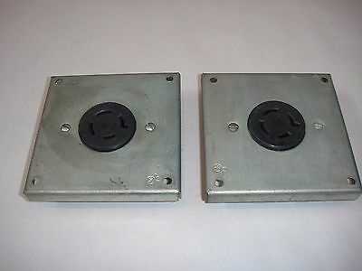 Lot Of 2 Hart Lock Electrical Receptacles 20A - 250V Nema L15-20
