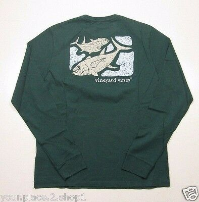 Vineyard Vines Boys L/S Charleston Green Tuna Back Graphic Pocket T-Shirt
