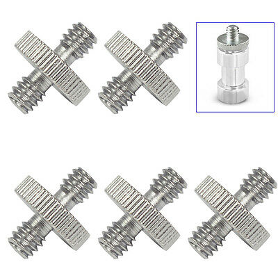 "5 Pieces 1/4"" Male to 1/4"" Male Threaded Screw Adapter for Camera Cage/Tripod"