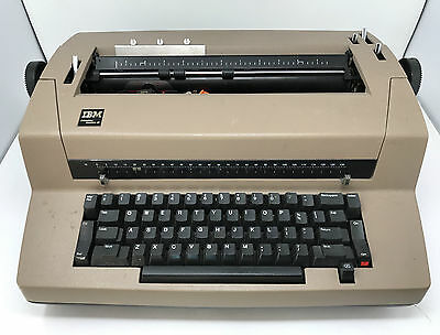 Vintage IBM Correcting Selectric III Brown Electronic Typewriter *1