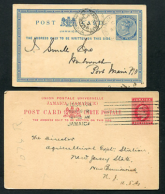 JAMAICA: (14971) Agriculture/QV and KE7 cancel/Post Cards