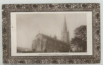 m northern ireland postcard ulster irish londonderry cathedral
