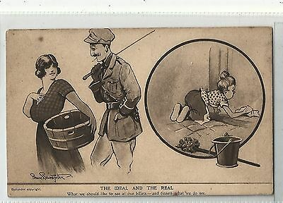 m military postcard england old bill by bruce bairnsfather