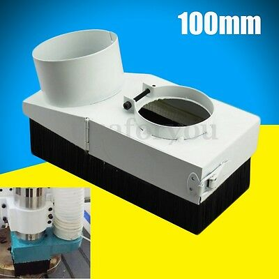 100mm White Spindle Dust Dustproof Shoe Vacuum Cleaner Cover For CNC Router