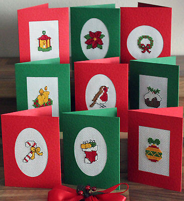 Christmas Set Of 9 - Traditional - Cross Stitch Cards Kit