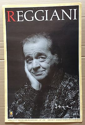 AFFICHE SPECTACLE : Serge Reggiani Disques Trema 1989