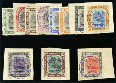 Brunei 1907 KEVII set complete very fine used. SG 23-33.