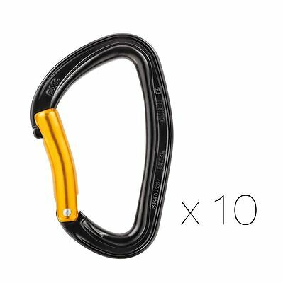 Petzl Djinn Steel Pack of 10 Carabiners For Climbing Gyms or Working Routes