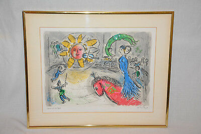 Marc Chagall - Sonne mit rotem Pferd  Farblithografie 1979 Lithographie