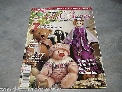 Australian Dolls, Bears and Collectables Vol. 9 No. 8 Miniature Tea Pot