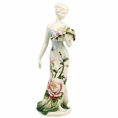 OLD TUPTON WARE English Garden Lady With Bouquet  Figurine Ornament TW7910