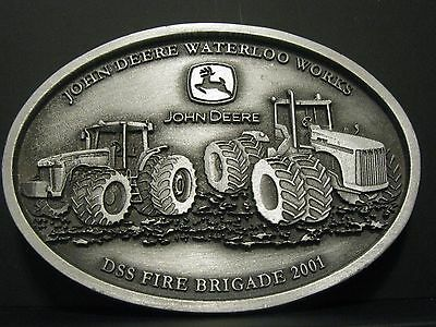 John Deere 9020 8020 Tractor Waterloo DDS FIRE BRIGADE EMPLOYEE Belt Buckle 2001