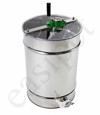 Stainless Steel 4 frame Manual Honey Extractor Bee Beekeeping Easipet 127