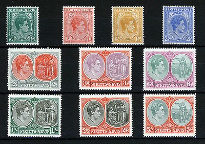 ST.KITTS-NEVIS King George VI 1938-50 Definitive Set to 5s. SG 68 to SG 72 MINT