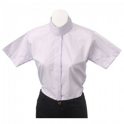 Tough-1- Comfort Riders Ladies Cotton/Poly Short Sleeve Blouse - White- 30 -NWT