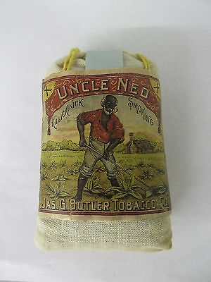 Vintage Rare  Advertising Tobacco  Uncle Ned Sack Tobacco Exc Cond 942-P