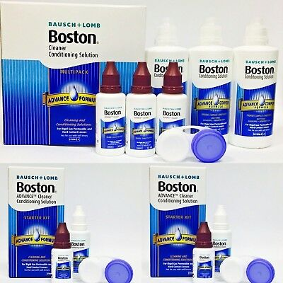 BOSTON Cleaner Conditioning Contact Lens Solution 3 Month Pack  **120ml FREE**