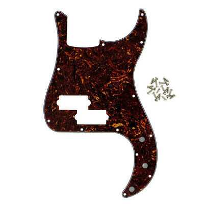 Brown Tortoise Shell 4-String P Bass Pickguard 13Holes for Fender Precision Bass