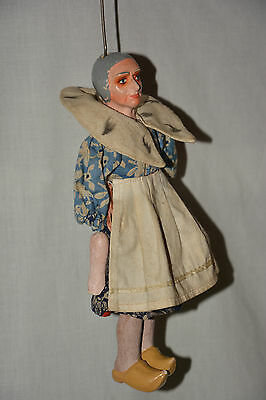 Marionette Frau mit Clogs String Puppet Theatre Kasperle Theater Holland