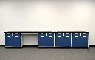 Laboratory Cabinets 15' Base Bench with Chemical Resistant Counter Tops C305 3..