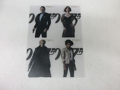 James Bond 50th Anniversary UNCUT PRESS SHEET of Skyfall Poster Set SF1 - SF4