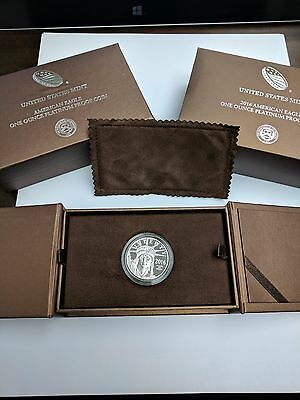 2016 W $100 Platinum American Eagle 1 oz PROOF Coin Box Included