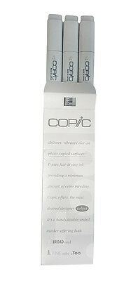 Copic Dual-tipped Broad & Fine Tip 3 Pieces Sketch Markers: 0 Colorless Blender