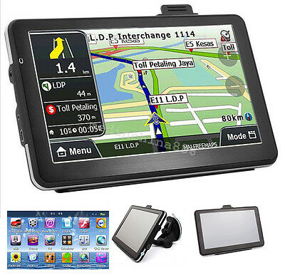 KKMOON Portable 7inch HD Car GPS Navigator Navigation Touchscreen 128M US L5A4