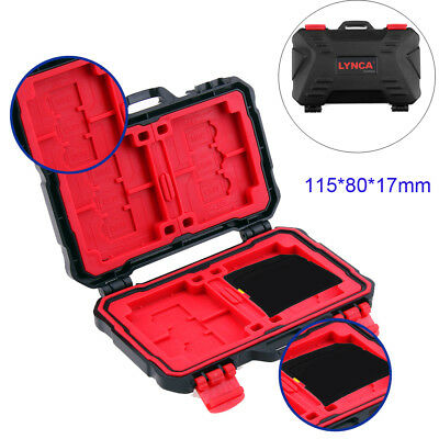 Waterproof Memory Card Storage Carrying Protecter Holder for 4CF 8SD 12MSD Cards