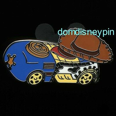 Disney Pin *Character Racers* Cute Stylized Mystery Pack Set - Sheriff Woody!
