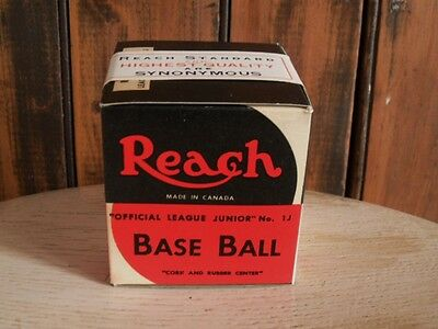 >Rare 1930's A.J. REACH BASEBALL In BOX With ORIGINAL SEAL Red & Blue Stitching