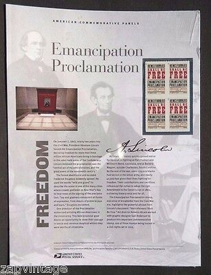 Sealed American Commemorative Panels - Emancipation Proclamation Stamps USPS