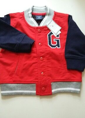 6-12 months Baby GAP jacket coat bnwt red white blue USA