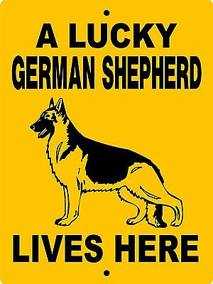 German Shepherd Dog Sign,no Trespassing,warning,gate,vinyl,aluminum Lgslh