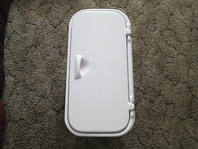 "Boat Pontoon Rv Shelf Storage Cabinet Hatch Box 2 Shelves 18"" X 7"" White"