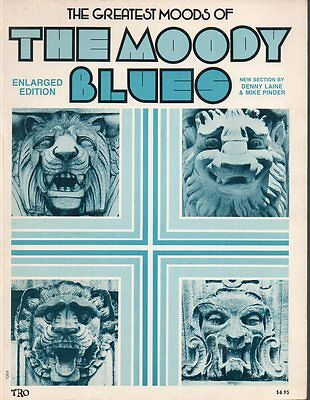 The Moody Blues The Greatest Moods of the Moody Blues Song Book Enlarged Edition
