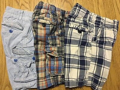 Boys GAP Kids Cargo Shorts Lot Of 3 Size 6 Slim Adjustable Waist Hard to Find